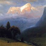Albert Bierstadt (1830-1902)  Storm Among the Alps  Oil on canvas, c.1856  28 3/4 x 20 inches (73.03 x 50.80 cm)  Public collection